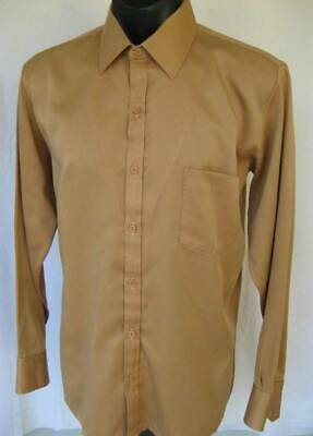Vintage Gloweave Night Moves Polyester Satin LS Mens Shirt Size: 41-42 (neck)