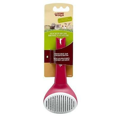 Living World Self-Cleaning Slicker Brush, Small Animal Grooming Comb #66609