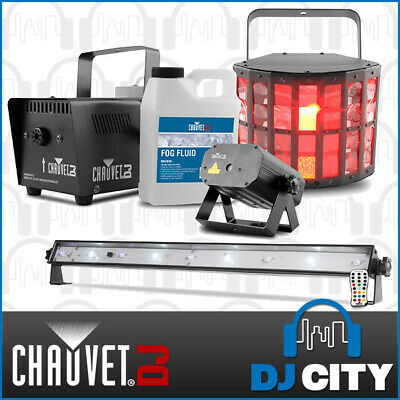 JAM Pack-Gold Chauvet Light Pack 4 Effects Derby/Laser/Smoke Machine/UV/Strobe