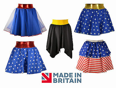 Girls Superhero Skirts, Costume Bat, Woman, Spider Fancy Dress