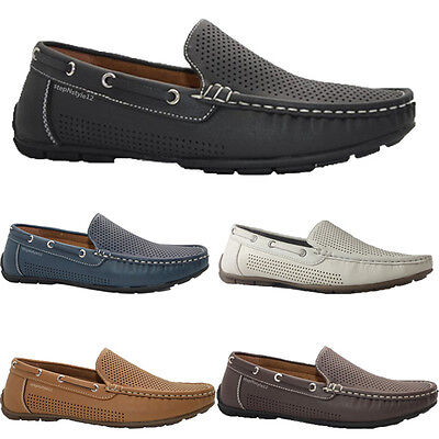 Mens  New Slip On Casual Boat Deck Mocassin Driving Loafers Shoes Size Uk 6 - 12