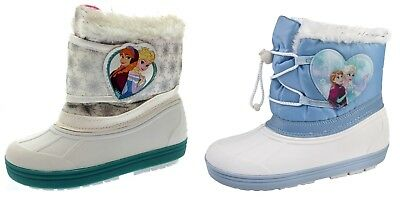 Kids Girls Disney Frozen Elsa Anna Snow Boots Waterproof Rain Wellies Size 7-13
