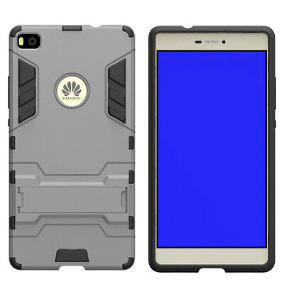 Fuse™ Ultron Hybrid Tough Rear Case Cover with Kickstand for Huawei P8 - Grey