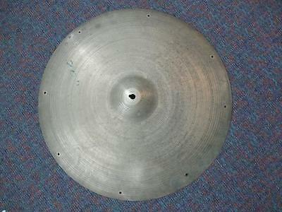 "Vintage A. Zildjian 20"" Sizzle/Ride Cymbal-c.1960's Stamp-Colorful Tones!"