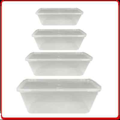 Food Containers Plastic Microwave Takeaway Freezer Safe Storage Boxes with Lids