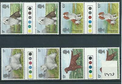wbc. - GB - COMMEMS - 1979 - DOGS  - GUTTER PAIRS - T/ LIGHTS  - UNM. MINT SETS