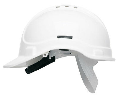 Scott HC300 Vented Safety Helmet Hard Hat With Sweatband - Terylene Cradle WHITE