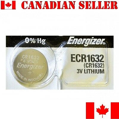 1 NEW Energizer Battery CR1632 1632 3v batteries ECR1632 DL1632  Mfg: Sep 2016