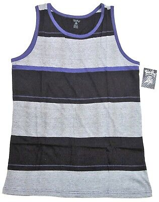 Men Tank Top T-shirt Sleeveless Vest Tops Adult S or M Multi-Color Stripes NWT