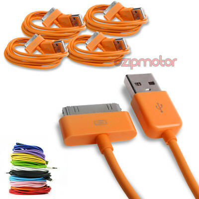 4X 3Ft Usb 30Pin Orange Cable Data Sync Charger Samsung Galaxy Tab 7.0 8.9 10.1