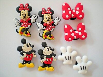 Jibbitz Croc Clog Shoe Charm Plugs Wristband Accessories 8 Mickey Mouse Gloves