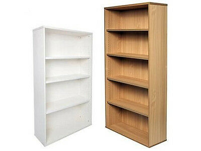 RAPID SPAN BOOKCASE SPBC18 - White/beech unit,adjustable shelves