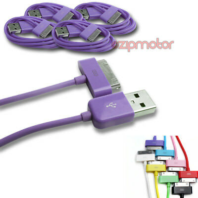 2X 6FT USB TO 30PIN PURPLE CABLE DATA SYNC CHARGER SAMSUNG GALAXY TAB TABLET 7.0