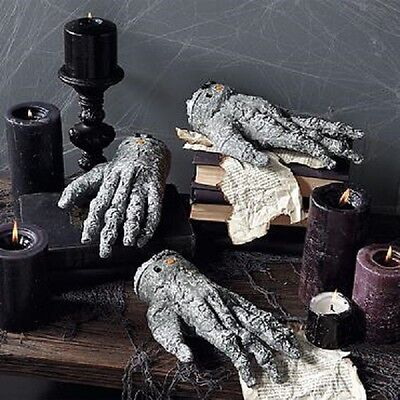 lot of 3 crawling hand grandin road severed zombie grey new monster
