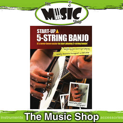 New Start Up 5 String Banjo Tuition Book - WMS96