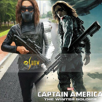 PRECO Captain America 2 The Winter Soldier Bucky Barnes Cosplay Costume Outfit