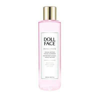Doll Face Invigorate Triple-Action Facial Cleanser 240ml for Her, NEW + BOXED