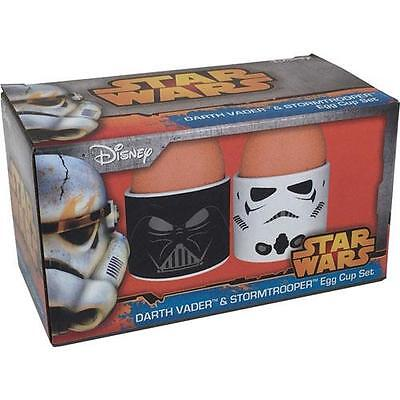 Star Wars Egg Cup Set Darth Vader and Stormtrooper 2 Egg Cups in Gift Box