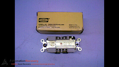Hubbell Hbl4700 Receptacle 2Pole 3Wire L5-15R 15Amp 125V Brown, New #121915