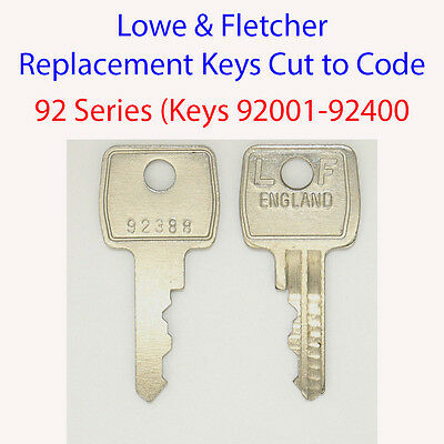 Lowe /& Fletcher Replacement Filing Cabinet Key SS001 SS400
