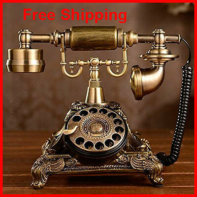 Rotary Dial Phone Functional Collectors French Telephone Replica Princess Style