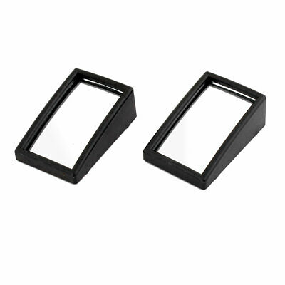 Pair Black Frame Plastic Rectangle Car Rearview Blind Spot Wide Angle Mirror