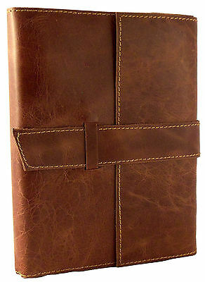 REFILLABLE Leather Travel Journal Sketchbook Notebook Diary Retro Vintage RUSTIC