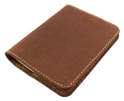 REFILLABLE Leather Pocket Notebook Mini Composition Book Cover Small Notepad NEW