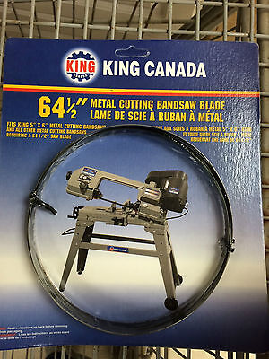 "King Canada Tools KBB-115-14 METAL BANDSAW BLADE 64-1/2"" x 0.25"" x 14 TPI LAME"