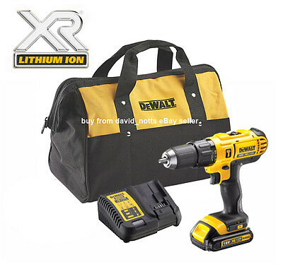 Dewalt 18V XR Cordless Combi Hammer Drill Kit Including Li-ion XR battery! *NEW*