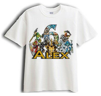 Lego Bionicle Personalized - Birthday T-Shirt Party Favor