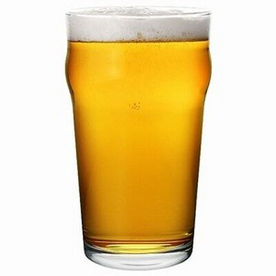 Nonic Pint Beer Glass 570ml X6 - Certified Capacity - Commerical Hospitality