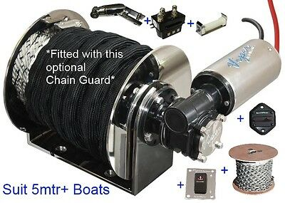 Viper Series2 1000 Electric Drum Anchor Winch KIT 5mtr + Boat 100m Rope+8m Chain