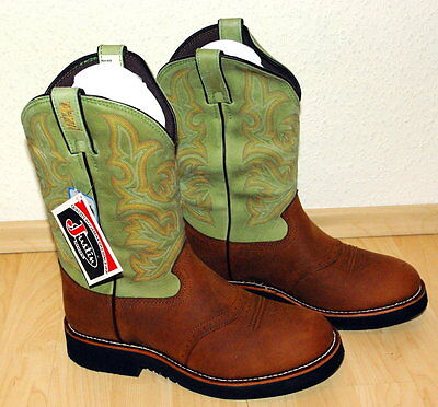 Justin 4783 Waterproof Rancher Riding Boots lime Gr. 42 EE NEU OVP Cowboystiefel