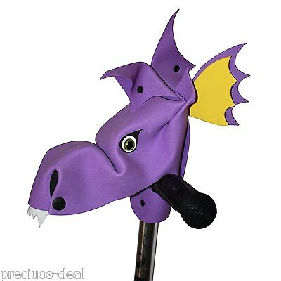 Handlebar Heroes Blaze Purple Dino Personalise your bike and scooter outdoor