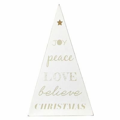 Wooden Christmas Tree Decoration Triangle
