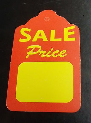 100 JUMBO UNStrung Scallop SALE PRICE Furniture Merchandise Jewelry Display Tags