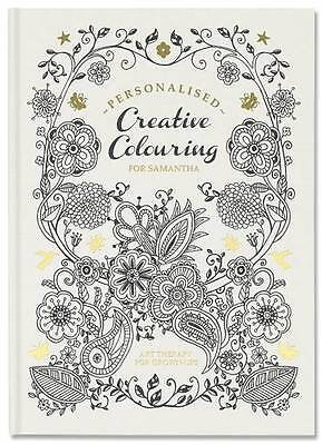 Personalised Creative Colouring In Book - Hardback - Adult Grown Up Art Therapy