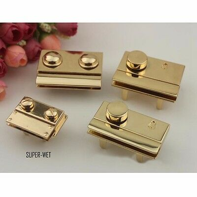 1 X Replacement Lock for Leather Briefcase Bag Fastener Latch Hardware Gold New