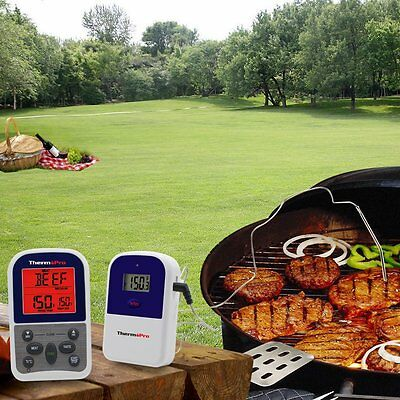 New Digital Remote Smoker Oven Grill Meat Wireless BBQ Thermometer & Timer