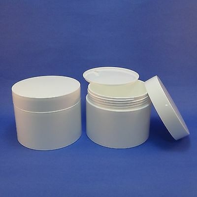 White Plastic Body Butters,Balms,Cream Jar Packaging PP Container Insert Travel