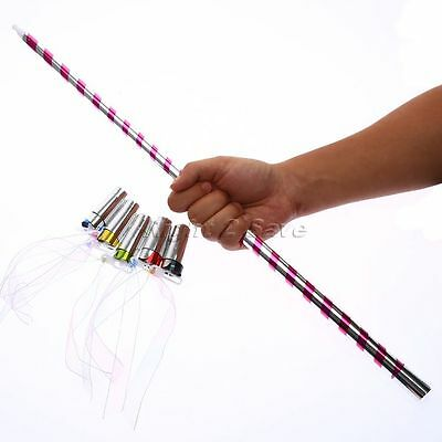 Stage Close Up Magic Trick Silk or Fire Paper into Plastic Appearing Cane Wand