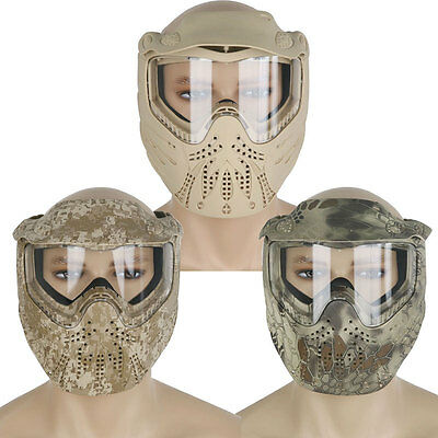 PAINTBALL MASK- Airsoft Full Face Protection With GOGGLES Tactical Gear UK
