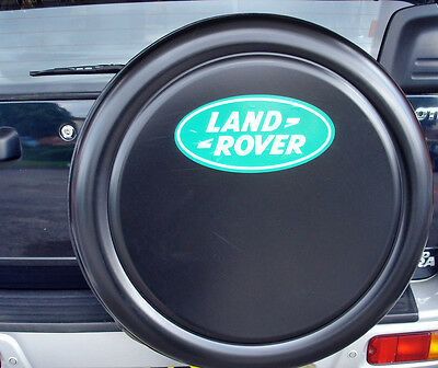 LAND ROVER DEFENDER 4x4 Semi-Rigid Spare Wheel Cover BLACK WITH LOGO