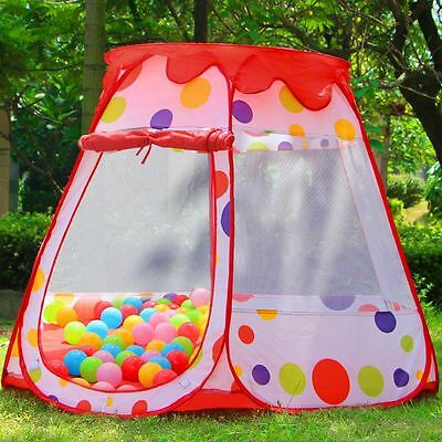 Child Play Pop Up Tent +100 ball Pool Pit Toy House Kid Playhouse Nursery Garden