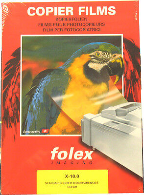 Copier and laser transparency slides, Print film X 10.0 by Folex A4