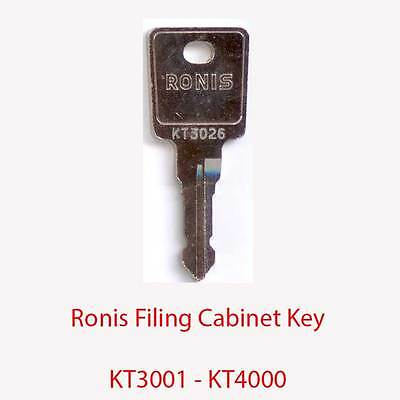 Ronis Replacement Filing Cabinet Key KT3001 - KT4000