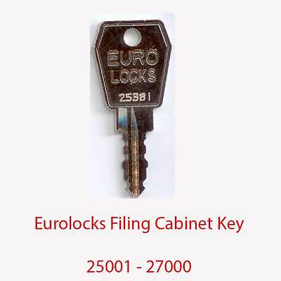Eurolocks Replacement Filing Cabinet Key 25001 - 27000
