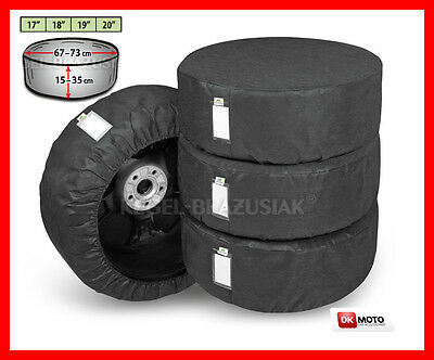 4 x Spare wheel cover  18''  - black XL CAR VAN 4x4 MPV