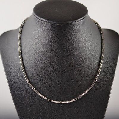 18K White Gold Clear Stone Necklace 16 inches